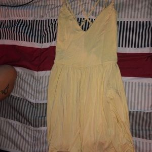 Forever 21 Yellow Strappy Romper